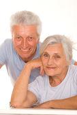 Happy elderly couple together — Stock Photo