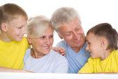 Dört kişilik aile — Stok fotoğraf