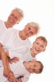 Avós com netos — Fotografia Stock