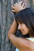 Nice girl in the park — Stock Photo