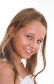 Mooi meisje permanent — Stockfoto