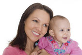 Happy mom and baby — Stock Photo