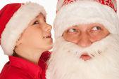 Santa with boy — Stock Photo
