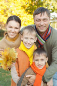 Portrait of a nice family — Stockfoto