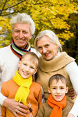 Nice family on the nature — Stock Photo