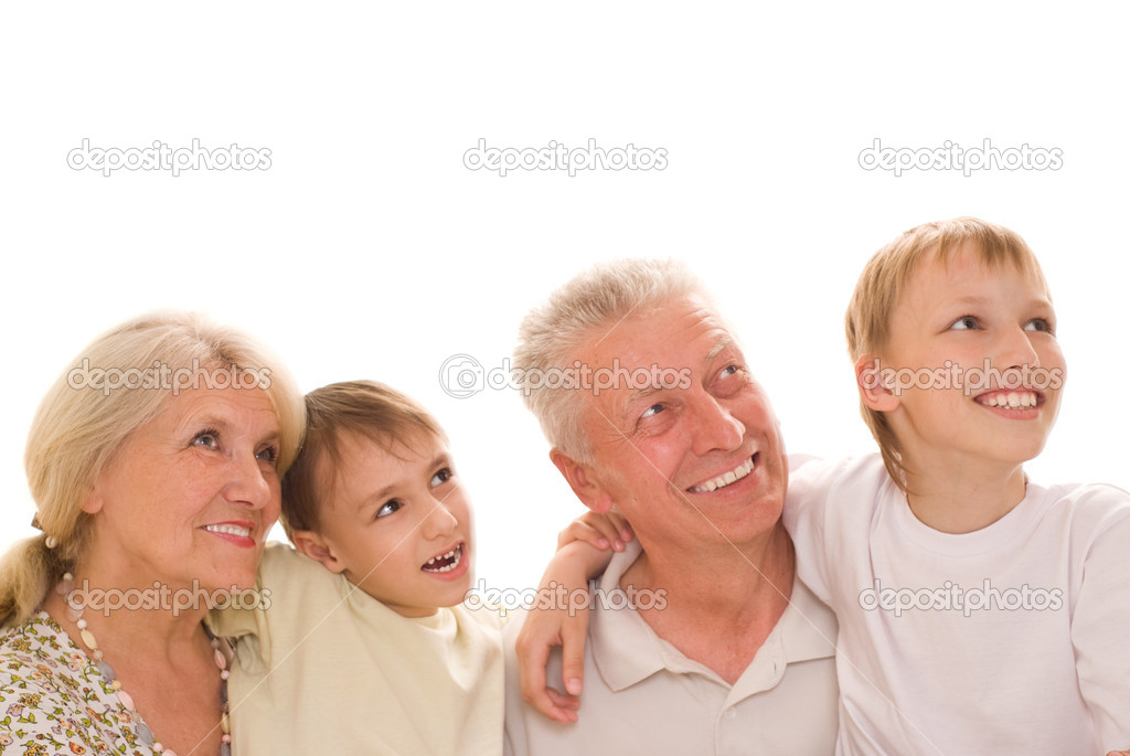 Portrait of a happy family  on a white — Stock Photo #5510211