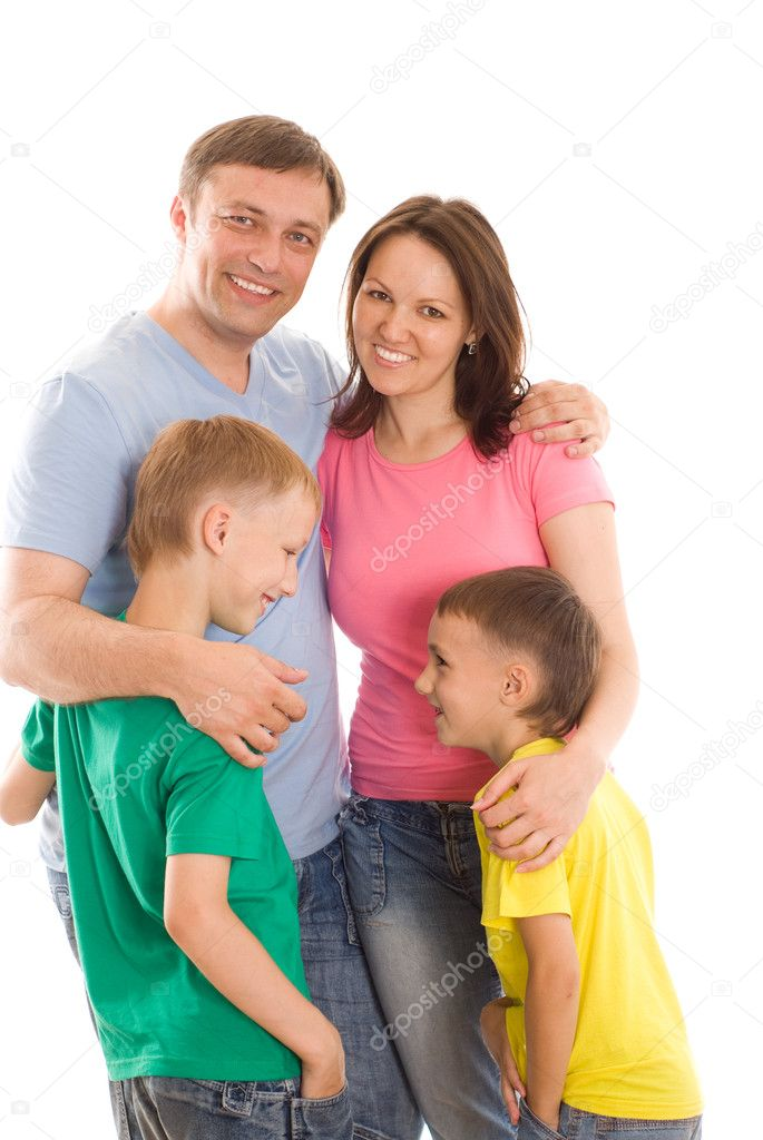 Parents with their two children together — Stock Photo #5514035