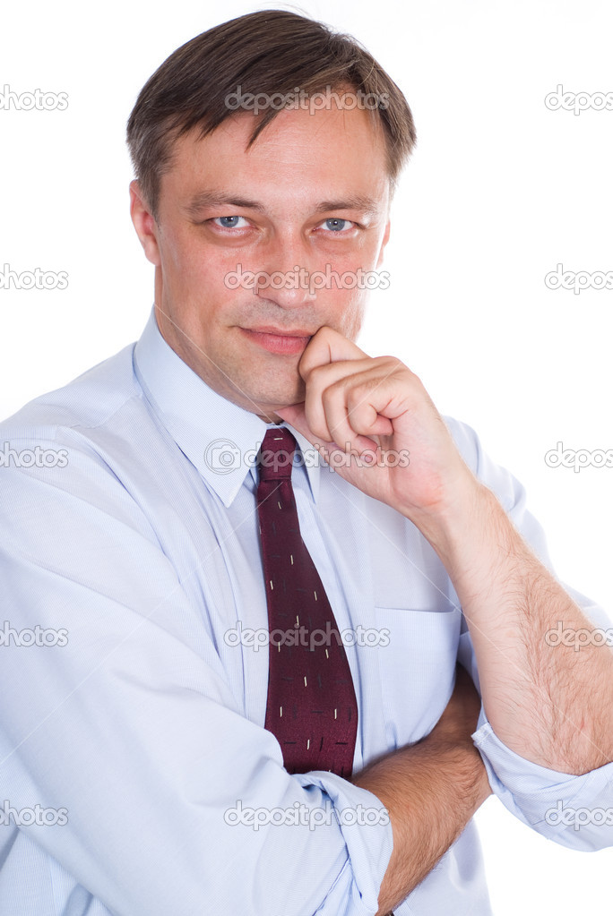 Happy business man on a white background  Stock Photo #5515162