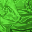 Sensuous Smooth Green Satin — Stock Photo