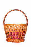 Wicker basket isolated on white background — 图库照片