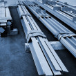 New metal beams — Stock Photo