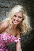 Portrait of blonde — Stock Photo