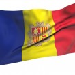 Постер, плакат: Flying Flag of Andorra All Countries