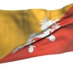 Постер, плакат: Flying Flag of Bhutan All Countries