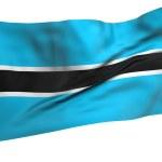 Постер, плакат: Flying Flag of Botswana All Countries