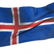 Flying Flag of Iceland - All Countries — Stock Photo #5571656