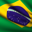 Flying Flag of Brazil . All Countries Collection . — Stock Photo #6609189