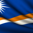 Royalty-Free Stock Photo: Flying Flag of Marshall Islands . All Countries Collection .