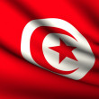 Flying Flag of Tunisia . All Countries Collection . - Stock Photo