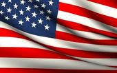 Flying Flag of United States . All Countries Collection . — Stock Photo