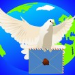 A dove with a letter — Stock Photo #5479282