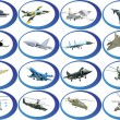 Icons from military aviation — Stock Photo #5479872