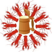 Crawfish and Beer — Stock Photo