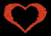 Coração de luto — Fotografia Stock