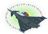 Jet fighter — Stock Photo
