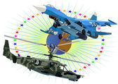 Técnico de aeronaves modernas — Foto Stock