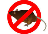 Prohibition sign and a rat — Stock Photo