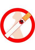 запрет на курение во время беременности — Стоковое фото