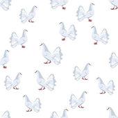 белые голуби — Cтоковый вектор