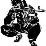 Sniper — Stock Vector