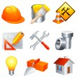 Stock vektor: Construction icons.