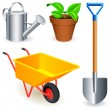 Stock Vector: Garden tools.