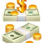 Money packs. — Stock Vector