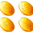 Stock Vector: Golden coins.