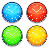 Color clock. — Stock Vector