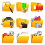 Folder icons. — Stock Vector
