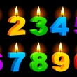 Numbered candles. - Stock Vector