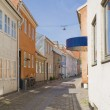 Small european town street — Stock Photo