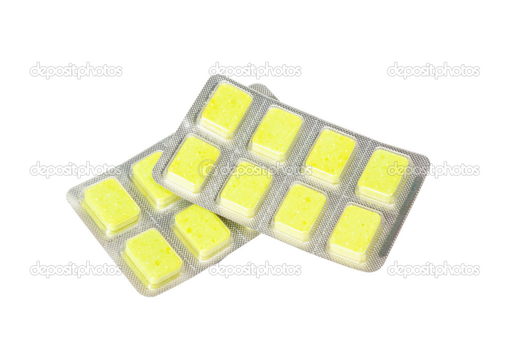 Tablets packing isolated on white background — Stock Photo #6682254