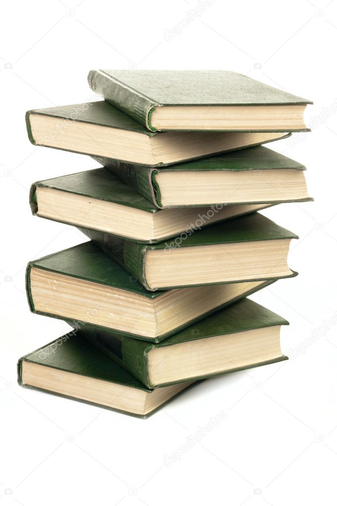 Books stack isolated on white background — Stock Photo #6742210