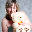 Royalty-Free Stock Photo: Sexy Blond Girl with teddy bear