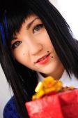 Blue-eyed brunette — Stock Photo