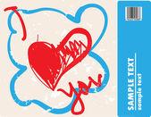 Corações scrawly — Vetorial Stock