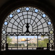 Window in Dominus Flevit Church — Foto Stock