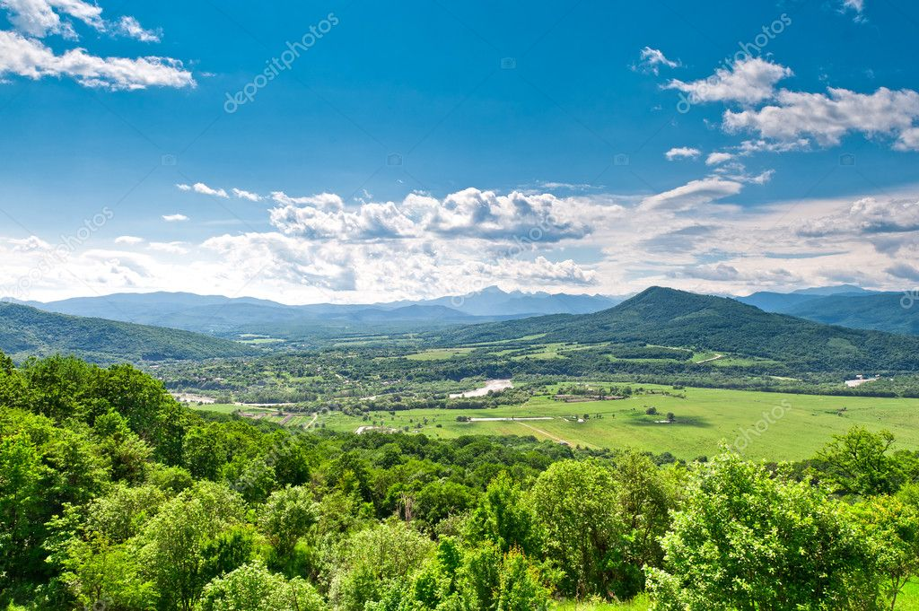 View of the mountains from a bird's eye — Stock Photo #6368827