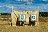 Target boards for archery shooting — Stock Photo